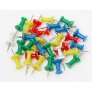 Push Pins - Asst 50pk