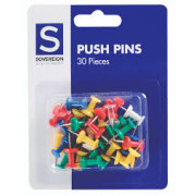 Push Pins - Assorted (Pack of 30)