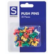 Push Pins - Asst 30pk