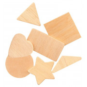 Wooden Geometric Shapes, Natural 117 Pack