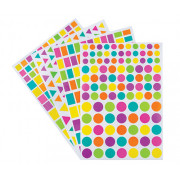 Adhesive Shapes Stickers Asst 40 Pack
