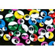 Joggle Eyes Asstd/Multi Colour With Lashes 100pk