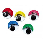 Joggle Eyes with Lashes 15mm 100pk