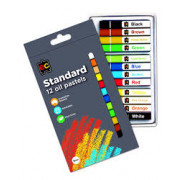 Oil Pastels Assorted SML (Pack of 12)