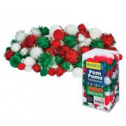 Pom Poms Christmas Asst 300's