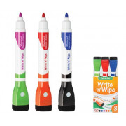 Write 'n' Wipe Whiteboard Markers 3's (6 Colours)