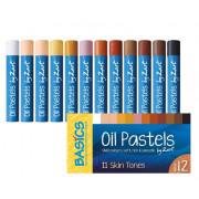 Oil Pastels Skin Tone Asst 12's