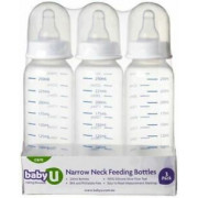 Narrow Neck Feeding Bottles BabyU (3 Pack)