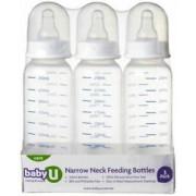 Narrow Neck Feeding Bottles BabyU (Pack of 3)