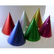 Cone Foil Hats (Pack of 6)