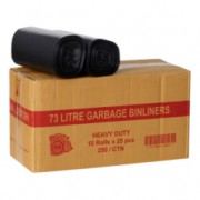 Bin Liners - 78L Black 250 Pack