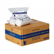 Garbage Bags - Bin Liners 27 Litres - White (Pack of 1000)