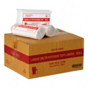 Garbage Bags - Bin Liners 36 Litres - White (Pack of 1000)