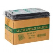 Garbage Bags - Bin Liners 54 Litres - Black (Pack of 250)