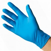 Vinyl Blue Powdered Gloves - Large (Box of 100)