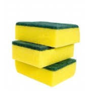 Scourer Sponge Yellow & Green