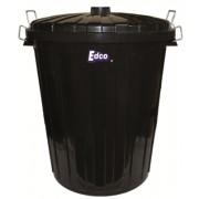 Plastic 73L Garbage Bin + Lid