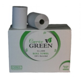 Caprice Green Roll Towel (Pack of 16)