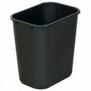 Open Top Black Plastic Bin (32 Liter)