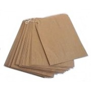 Paper Bag Brown 3 Square 100pk