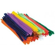 Chenille Stems Assorted 6mm x 300mm (50 Pack)