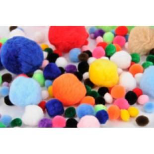 Pom Poms Asstd Colours 150pk