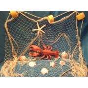 Large Natural Fish Net 6x 1.8m