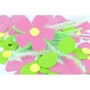 Foam Shapes Make A Flower 10pk
