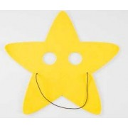 Foam Xmas Mask - Star 10pk