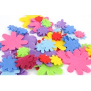 Felt Shapes Flowers Asst 100pk