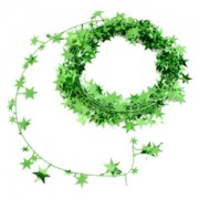Xmas Garland - Small Stars Green 2.7m