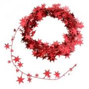 Xmas Garland Small Stars - Red