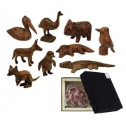 Wooden Animals Australian (Pack of 10)