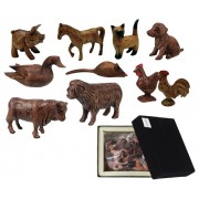 Wooden Animals Farmyard (Pack of 10)