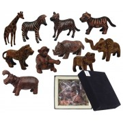 Wooden Animals Wildlife (Pack of 10)