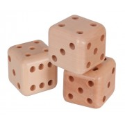 Wooden Dice (Set of 3)