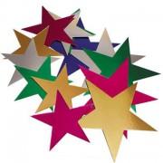 Foil Stars Asstd 76mm 50pk