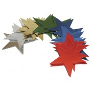 Foil Stars Assorted (Pack of 50)