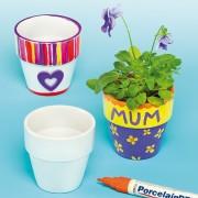 Porcelain Flower Pots 4s