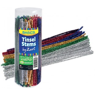 Chenille Tinsel Assorted (Pack of 150)