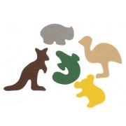 Felt Australian Animal Shapes (Pack of 50)