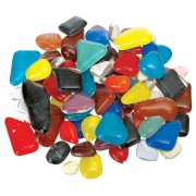 Glass Mosaic Stones 500g Ass