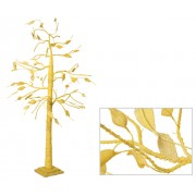 Hessian Tree Yellow 140cm