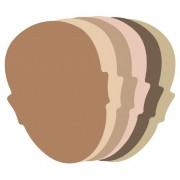 Paper Shapes - Small Faces (Pack of 50)