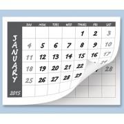 Calendar Tabs A4 2020 10 Pack