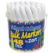 Markers Washable Thick 48s