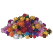 Pom Poms Glitter (Pack of 200)