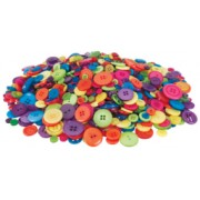 Bright Coloured Buttons 600g
