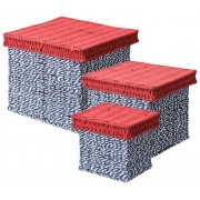 Rope Basket 3s Blue White Red