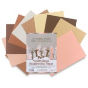 Multicultural Construction Paper (50 Sheets)